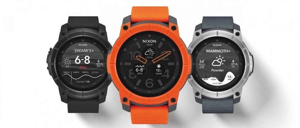 Nixon debuts Android smartwatch with 100-meter water resistance
