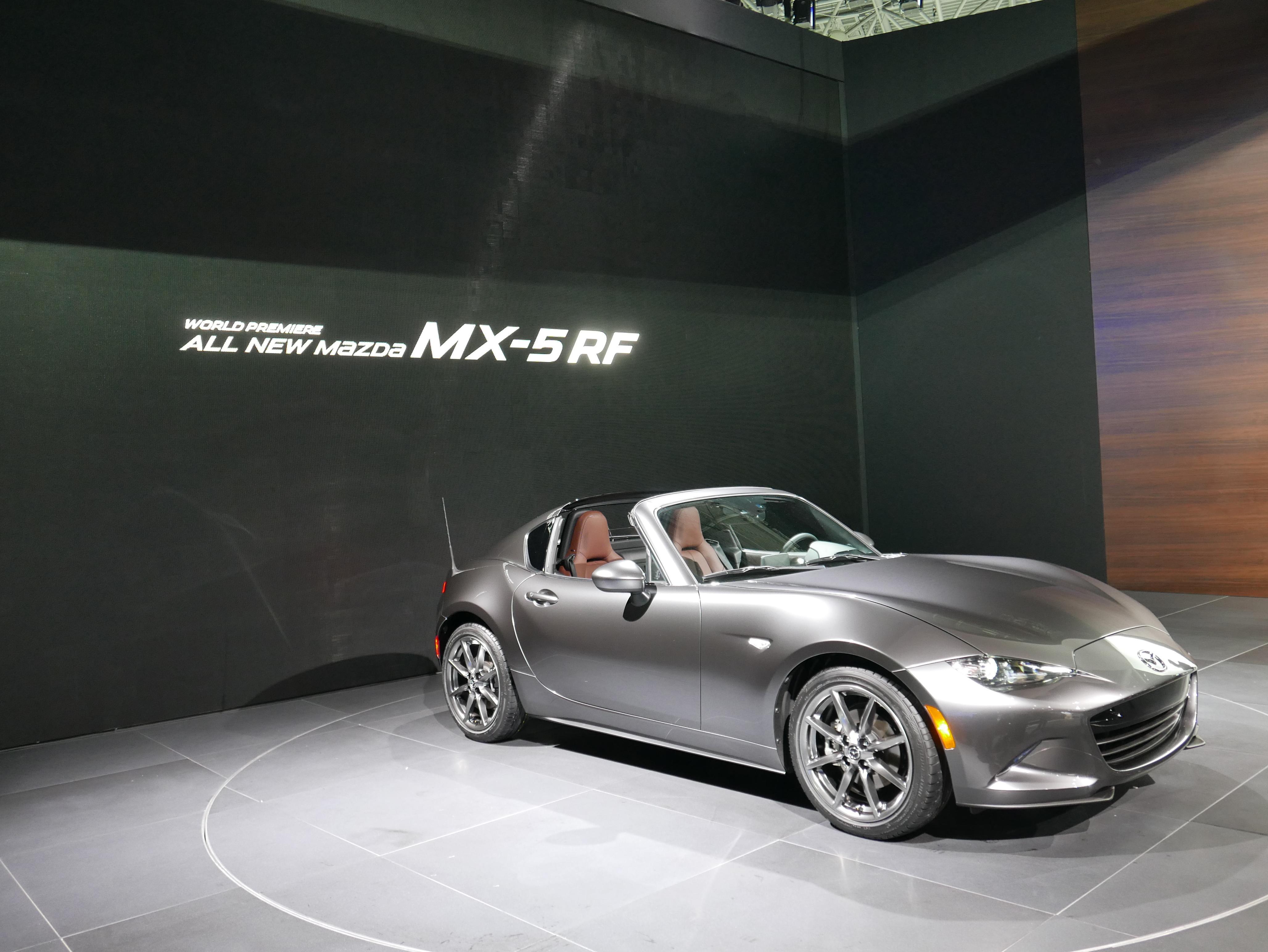 2017 Mazda Mx 5 Miata Rf Drops Its Retractable Hardtop Just Before New York Auto Show