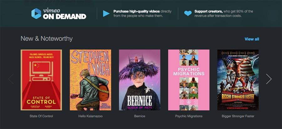 Vimeo On Demand store launches on Roku