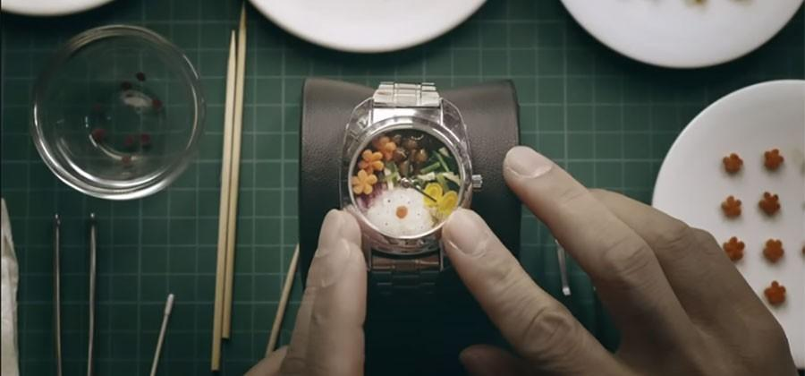 Japanese Bento watch feeds you at lunchtime