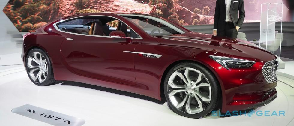 Buick's Avista looks great in red. You still can't have one