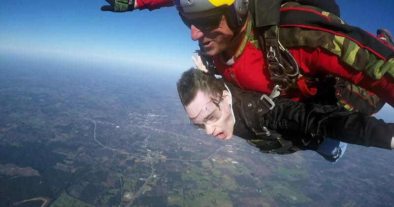 Paraplegic gamer gets to skydive, courtesy of NVIDIA SHIELD