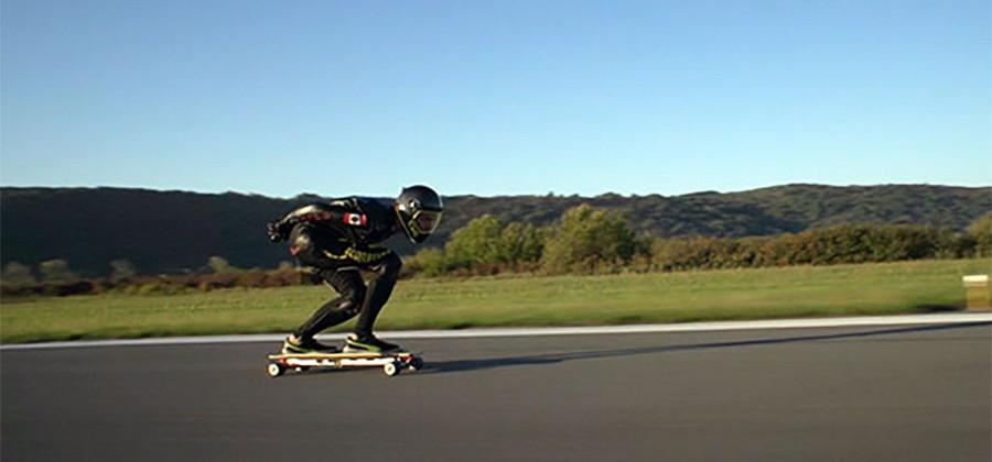 Man grabs world record by riding electric skateboard 59.55 mph