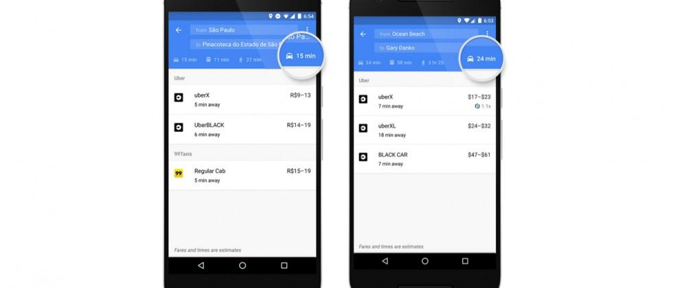 Google Maps is getting more cab options than Uber