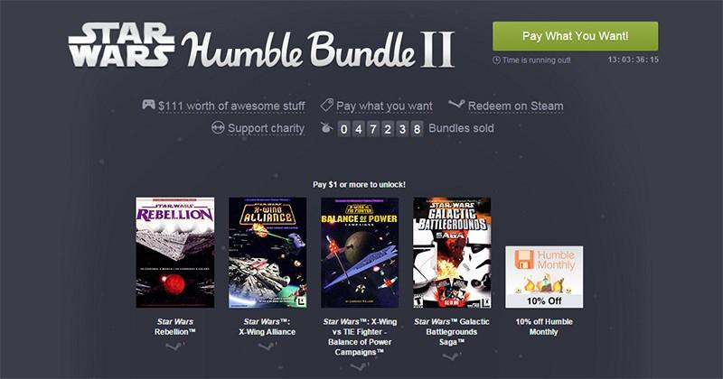 The Star Wars Humble Bundle II is an absolute steal