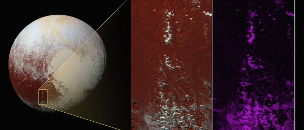 NASA's New Horizons reveals snow-covered mountains on Pluto