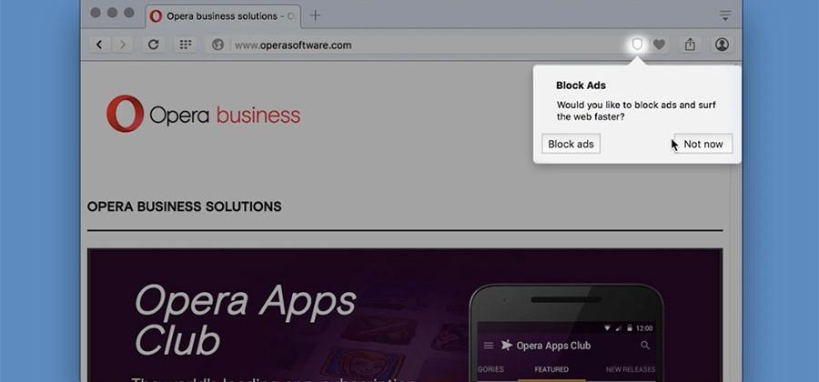 Opera announces faster native ad-blocking