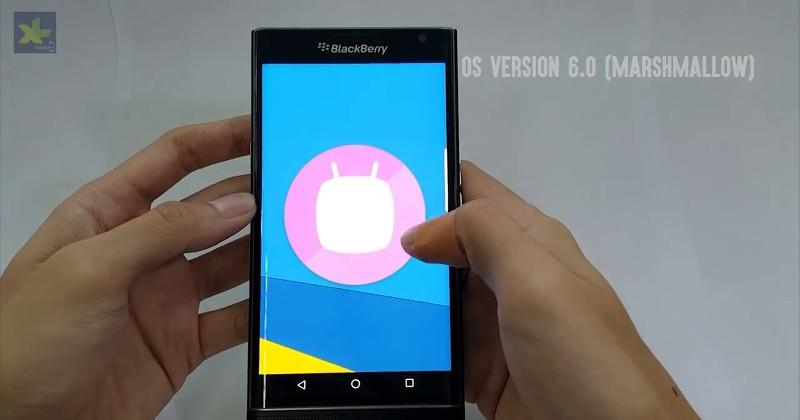 BlackBerry Priv spotted running Android 6.0 Marshmallow