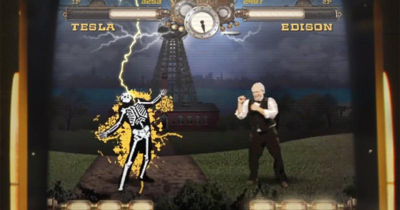 Arcade cabinet pits Tesla, Edison, your hands in mortal combat