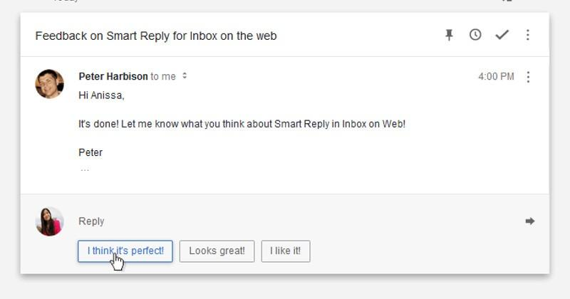 Inbox by Gmail finally gets Smart Reply on the Web