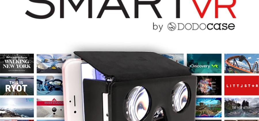 SMARTvr virtual reality viewer works with any smartphone