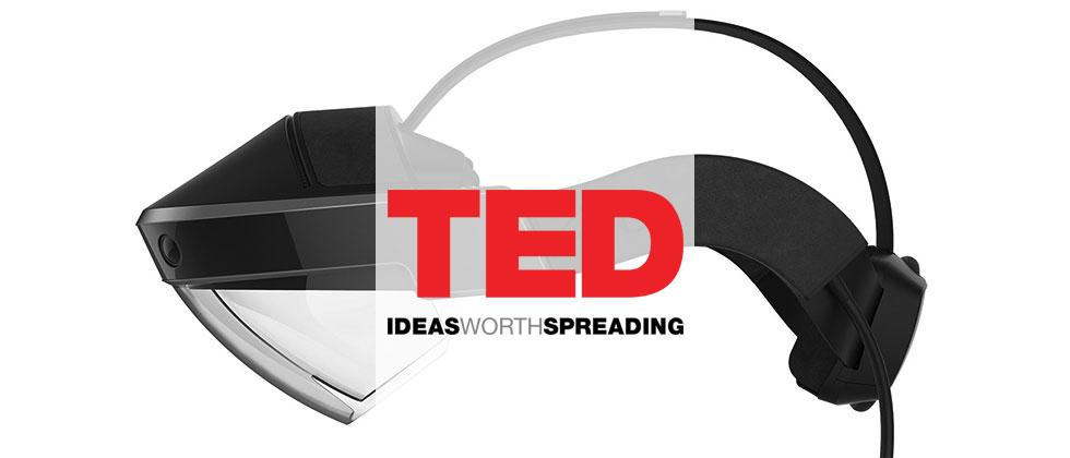 Meta AR headset TED Talk: augmented details
