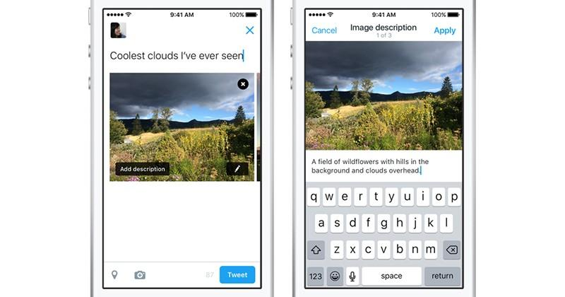 Twitter now lets you add alt text to photos, for the visually impaired