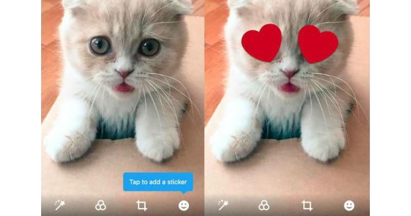 Twitter tests photo stickers as a social experiment