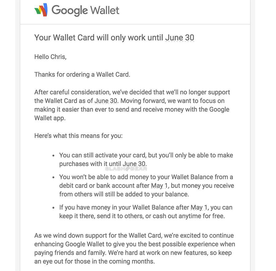Google Wallet Debit Card going away [UPDATE: Confirmed