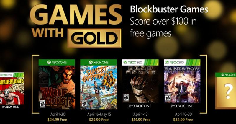 Xbox Games With Gold for April includes Dead Space and Sunset Overdrive