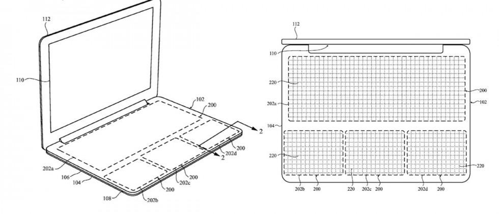 Apple patent reveals MacBook with touchpad keyboard