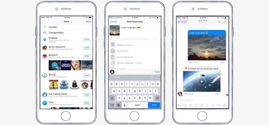Dropbox files can now be shared directly in Facebook Messenger