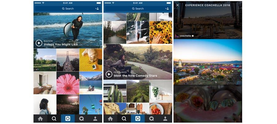 Instagram 'Explore' adds video channels
