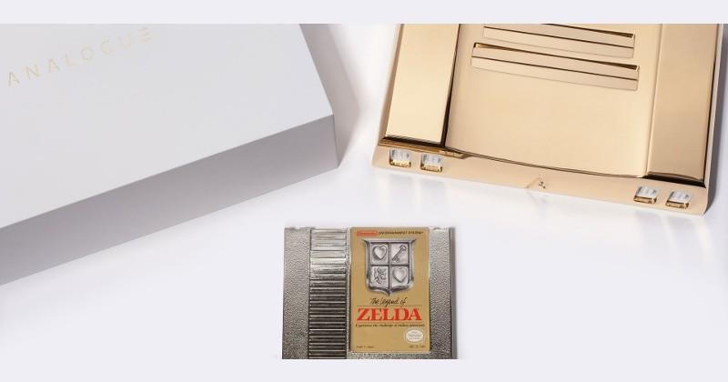 Analogue celebrates 30 years of Zelda with 24k gold NES