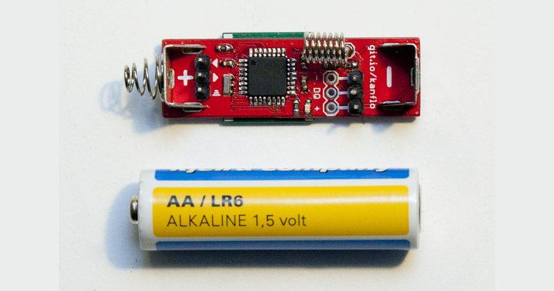 AAduino is an Arduino clone the size of an AA battery