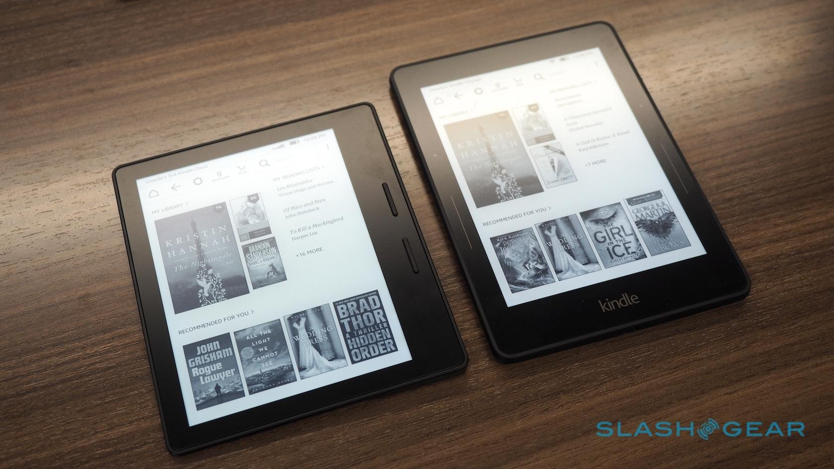 Amazon Kindle Oasis vs Kindle Voyage