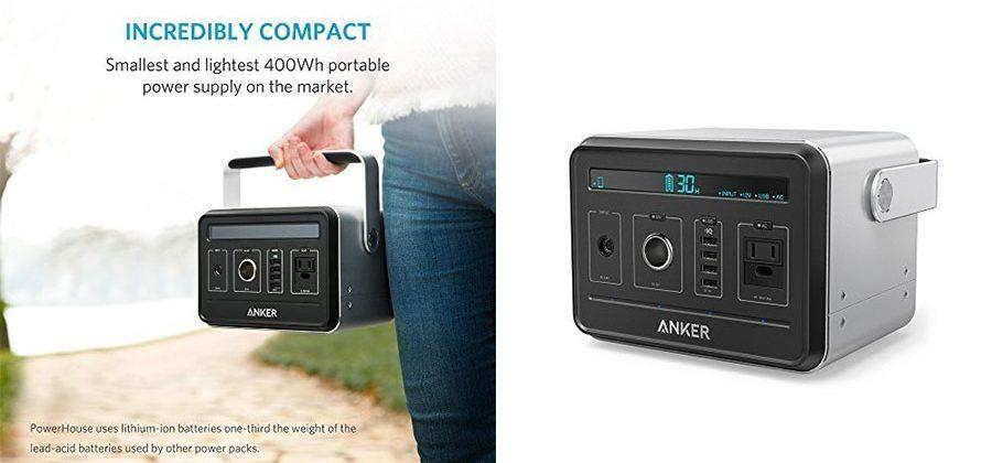 Anker PowerHouse 400Wh portable generator can charge via solar power