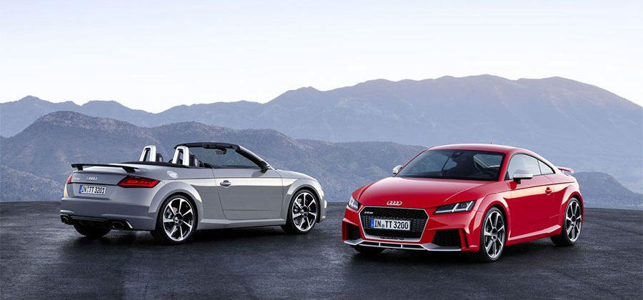 New Audi TT RS Coupe and TT RS Roadster pack new 400hp 5-cylinder