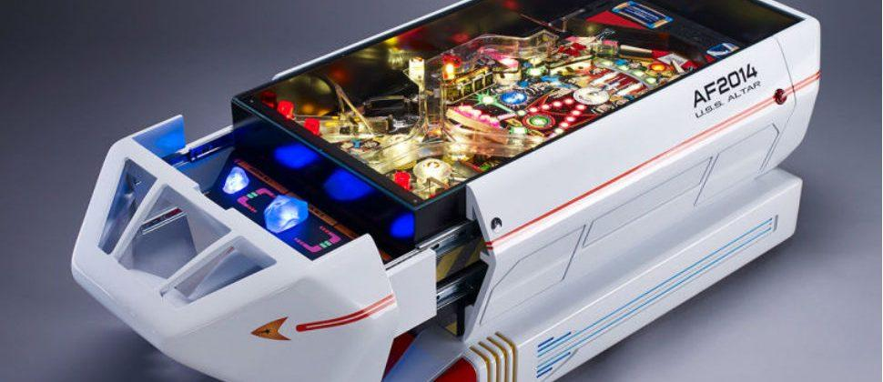 Star Trek coffee table doubles as one-of-a-kind pinball machine