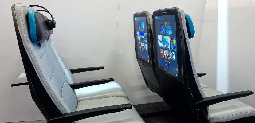 Imagine flying with 21-inch touchscreen seatback displays