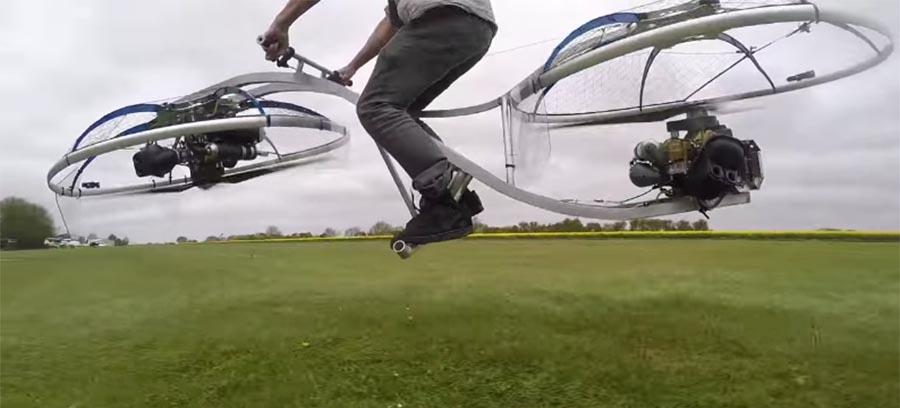 Guy's homemade hoverbike is the real deal