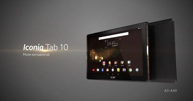Acer Iconia Tab 10 touts 4 front speakers, MiraVision engine