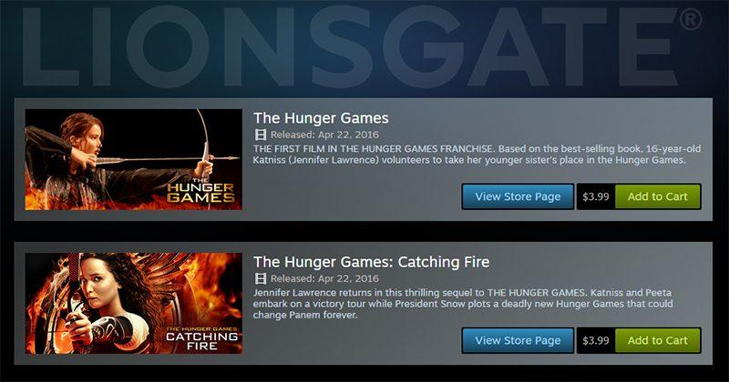 Steam partners with Lionsgate for movie rentals