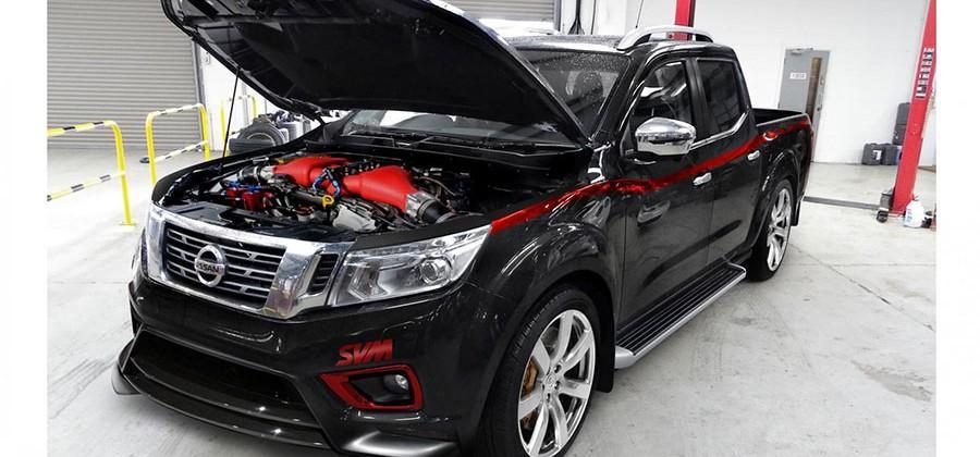 Nissan Navara truck hides an 800hp GT-R heart