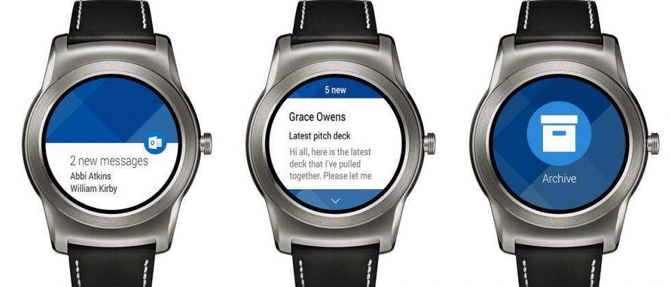 Now you can manage Outlook email on Android Wear