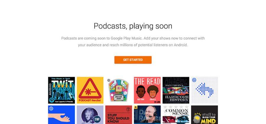 Google Play Music to get podcasts April 18