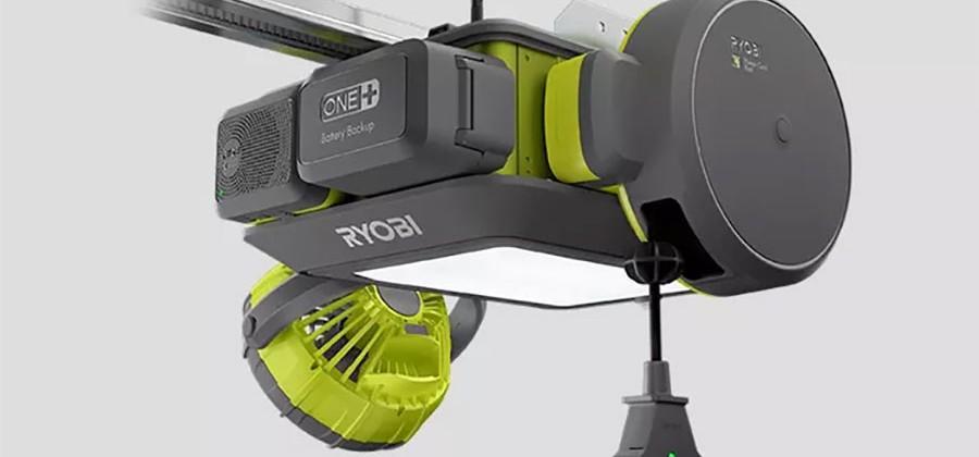 Ryobi garage door opener uses plug-and-play modules to do more