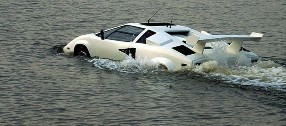 This weird Lamborghini Countach is amphibious and up for sale