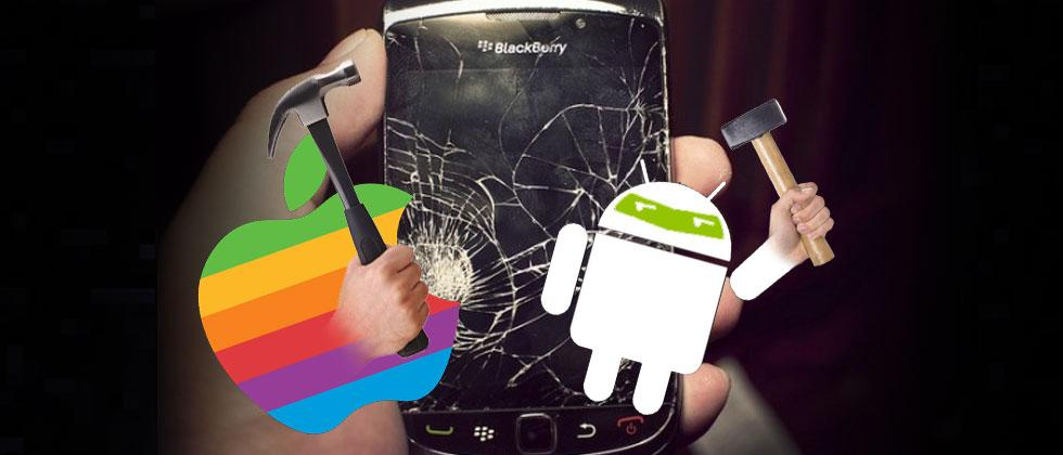 Who killed BlackBerry OS? Android or the iPhone?