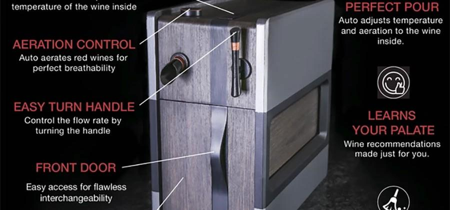 Somm wine dispenser learns what you like and keeps wine fresh