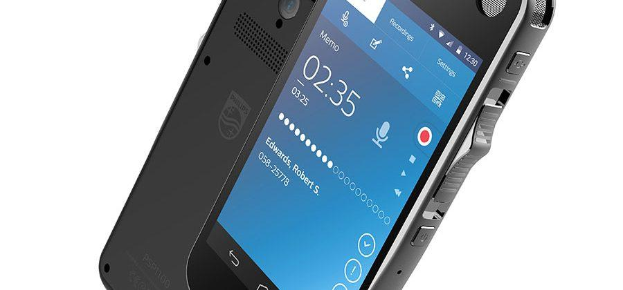 Philips SpeechAir Android voice recorder has touchscreen and camera
