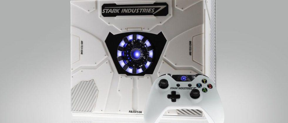 This special edition Xbox One was customized by Iron Man