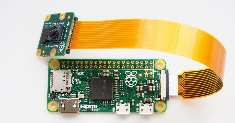 Raspberry Pi Zero now comes with a camera connector