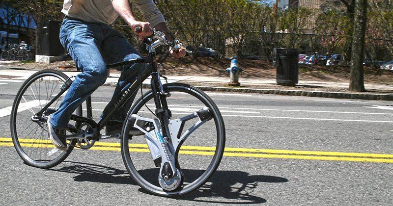 GeoOrbital Wheel adds an electric motor to your bike in 60 seconds