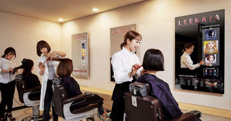 Samsung's Mirror Displays get installed in Korean salon