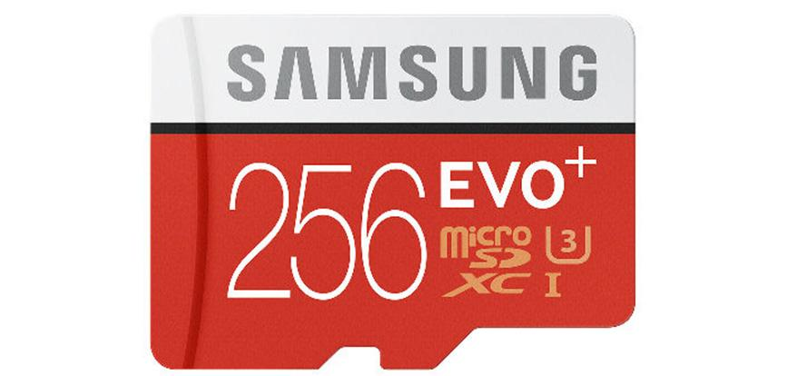 Samsung EVO Plus 256GB microSD card arrives in June