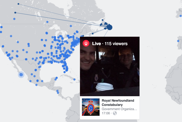 Facebook Live Map shows what's playing and who's watching
