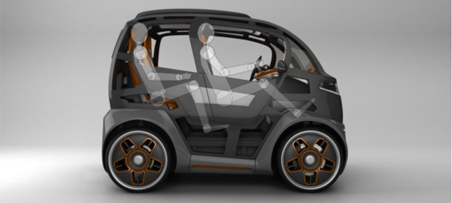 Mirrow Provocator is the size of a Smart ForTwo, but it seats four