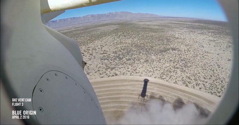 Blue Origin's rocket landing seen again from a camera