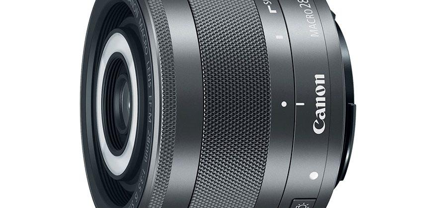 Canon EF-M 28mm f/3.5 Macro IS STM lens has integrated flash
